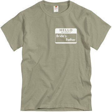 Father Of The Bride Unisex Gildan Heavy Cotton Crew Neck Tee