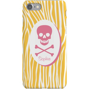 Zebra Skull iPhone Case Plastic iPhone 5 Case Black