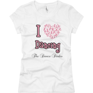 I Love Dancing Tee Junior Fit Basic Bella Favorite Tee