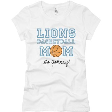 Basketball Mom Tee Junior Fit Basic Bella Favorite Tee