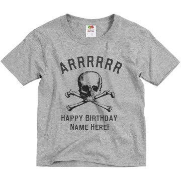 ARRR Birthday Youth Basic Gildan Ultra Cotton Crew Neck Tee