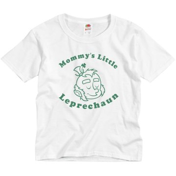 Mommy's Little Leprechaun Youth Basic Gildan Ultra Cotton Crew Neck Tee