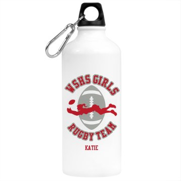 Rugby Team Water Bottle Aluminum Water Bottle