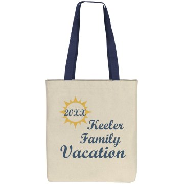 Keeler Family Vacation Liberty Bags Cotton Canvas Tote