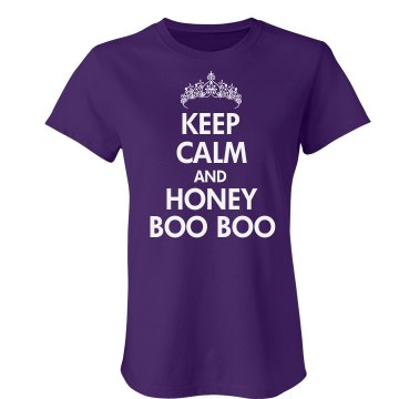 Honey Boo Boo Keep Calm  Junior Fit American Apparel Fine Jersey Tee