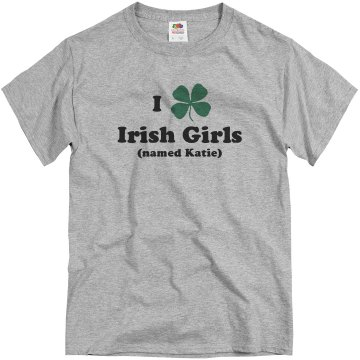 I Heart Irish Girls Unisex Basic Gildan Heavy Cotton Crew Neck Tee
