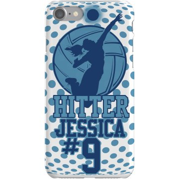 Volleyball Hitter Case Plastic iPhone 5 Case White