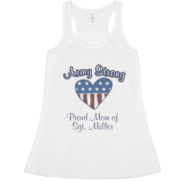 Army Strong Mom Tank Misses Relaxed Fit Anvil Heavyweight Tank Top