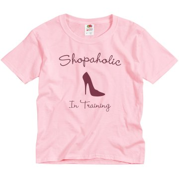 Shopaholic In Training  Youth Bella Girl Sheer 2-in-1 Baby Jersey Tee