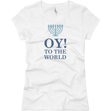 Oy! To The World Junior Fit Basic Bella Favorite Tee