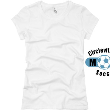 Circleville Soccer Mom  Junior Fit Basic Bella Favorite Tee