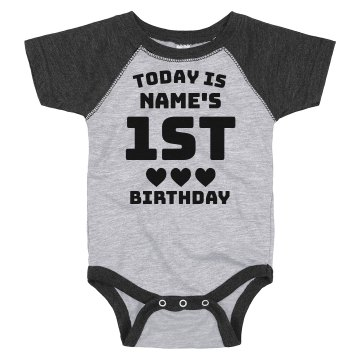 1st Birthday Party Junior Fit Basic Bella Favorite Tee