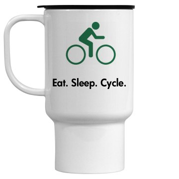 Eat. Sleep. Cycle. Mug 15oz Travel Mug