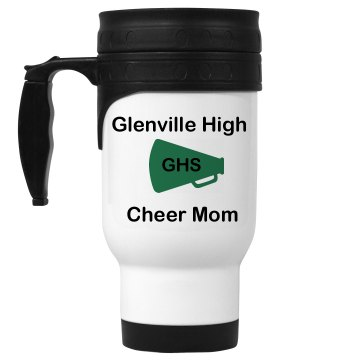 Cheer Mom Mug 14oz White Stainless Steel Travel Mug