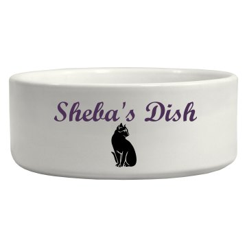 Custom Cat Bowl Ceramic Pet Bowl