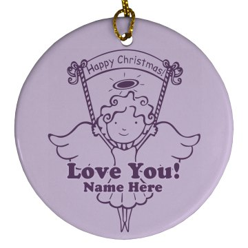 Wonderful Year Ornament Porcelain Circle Ornament