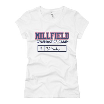 Millfield Gymnastics Camp Junior Fit Basic Bella Favorite Tee
