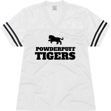 Powderpuff Tigers Junior Fit Soffe Mesh Football Jersey