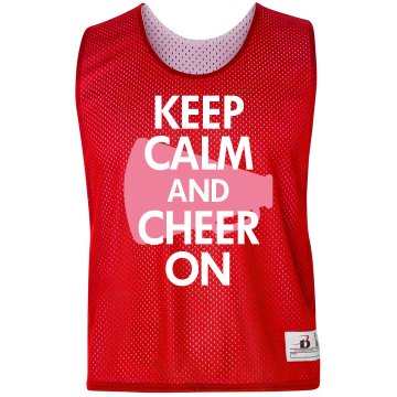 Keep Calm Cheer Pinnie Badger Sport Lacrosse Reversible Practice Pinnie