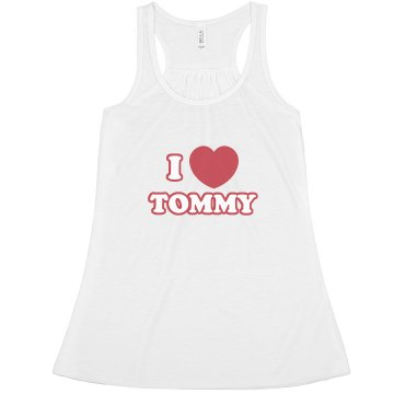 I Heart Tommy Misses Relaxed Fit Anvil Heavyweight Tank Top