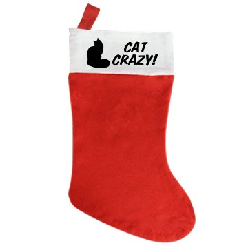 Crazy for Cats Gift Giant Personalized Holiday Stocking