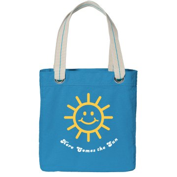 Here Comes the Sun Port Authority Color Canvas Tote