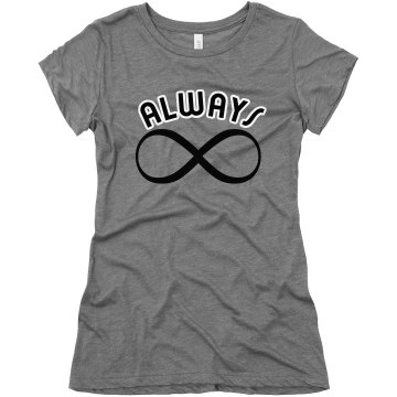 Always Infinity Junior Fit Bella Triblend Tee