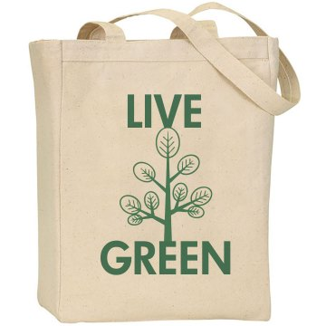 Live Green Liberty Bags Canvas Tote