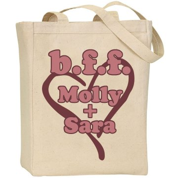 BFF Molly And Sara Liberty Bags Canvas Tote