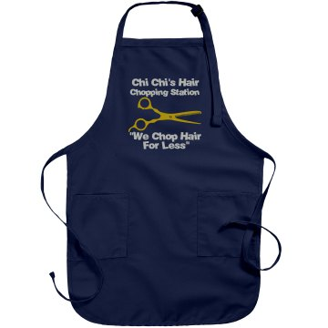 Custom Hair Salon Apron Port Authority Adjustable Full Length Apron