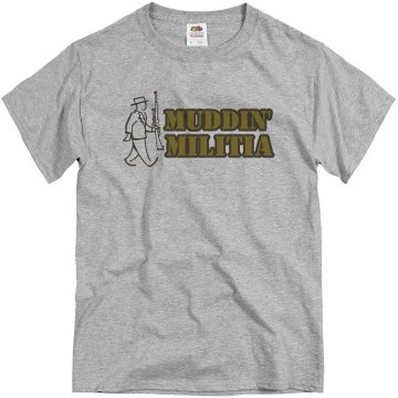 Muddin' Militia Unisex Basic Gildan Heavy Cotton Crew Neck Tee