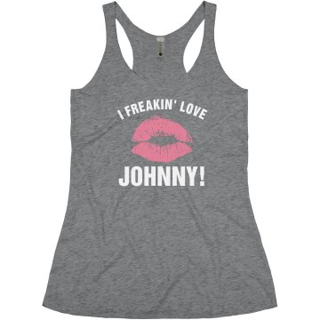 I Freakin&#x27; Love Junior Fit Bella Slit V-Neck Tee