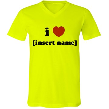 I Heart Template Junior Fit Bella 1x1 Rib Ringer Tee