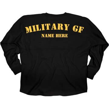 Proud Army Girlfriend Junior Fit Bella 1x1 Rib Ringer Tee