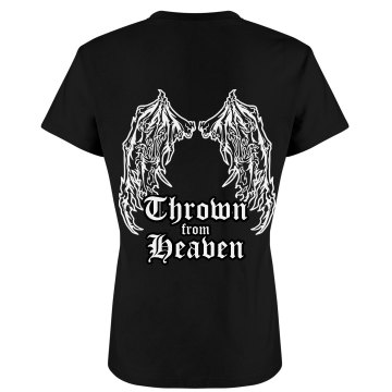 Heaven Thrown Angel Wings Junior Fit Bella Crewneck Jersey Tee