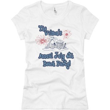 July 4th Beach Party Junior Fit Basic Bella Favorite Tee