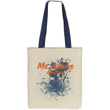 Splatter Teacher Bag Liberty Bags Cotton Canvas Tote