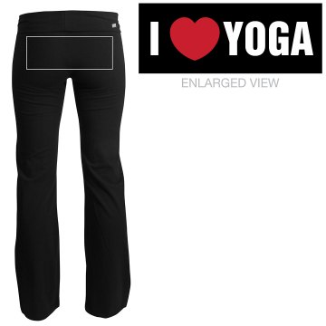 I Love Yoga Pant Junior Fit Soffe Yoga Pants