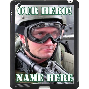 Military Hero Photo Gift Black iPad Smart Cover