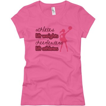 Cheerleaders & Athletes Junior Fit Basic Bella Favorite Tee