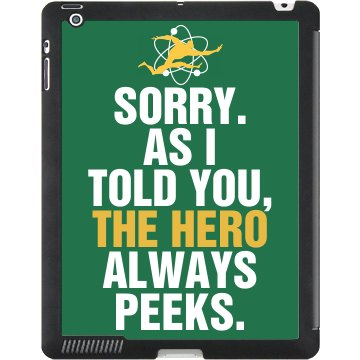 Sheldon Always Peeks Black iPad Smart Cover