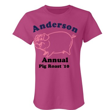 Anderson Pig Roast Junior Fit Bella Sheer Longer Length Rib Tee