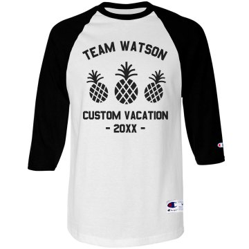Watson Family Vacation Unisex Champion Raglan Baseball Tee