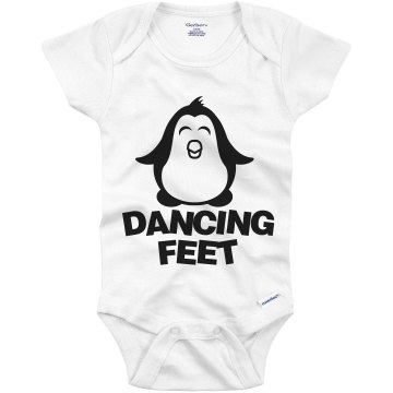 Dancing Feet Penguin Infant Gerber Onesies