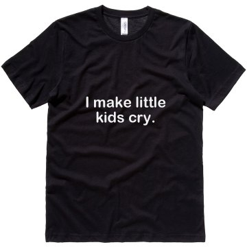 I Make Little Kids Cry Unisex Canvas Jersey Tee