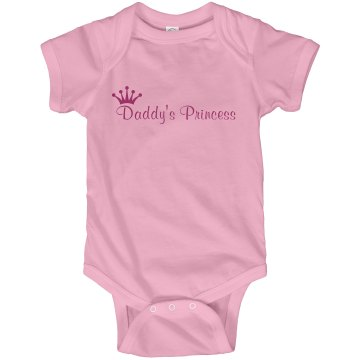 Daddy's Princess Tee Infant Rabbit Skins Lap Shoulder Creeper