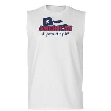 American Pride Unisex Basic Gildan Ultra Cotton Sleeveless Tee