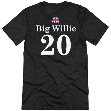 Big Willie UK Couple Tee Unisex Canvas Triblend Tee