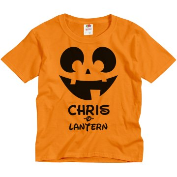 (Your Name)-O-Lantern Youth Gildan Heavy Cotton Crew Neck Tee