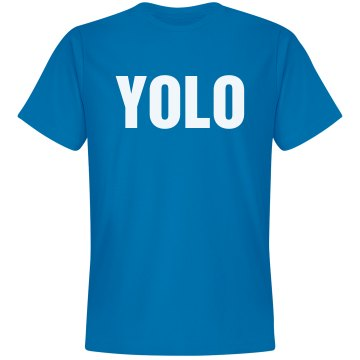 Circle Of YOLO Unisex Gildan Heavy Cotton Crew Neck Tee